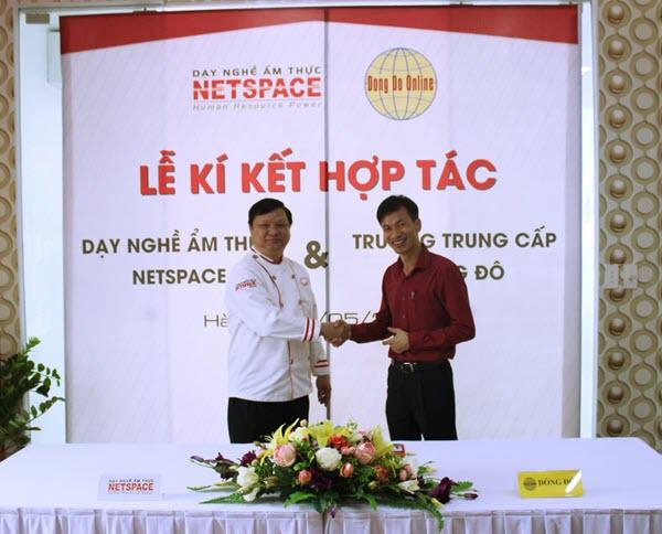 Lễ ký thỏa thuận hợp tác giữa trường Netspace với trường TC Công nghệ và Quản trị Đông Đô